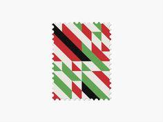 Iran #stamp #graphic #maan #geometric #illustration #minimal #2014 #worldcup #brazil