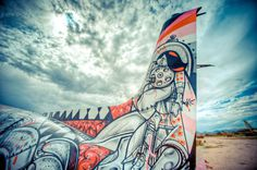 The Boneyard Project #airplanes #graffity #art #retired