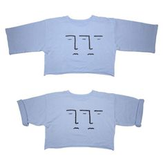 SOFT BLUE DOUBLE FACE CREWNECK