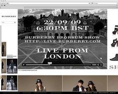 Burberry Website Pitch on Web Design Served #rgfgfgf