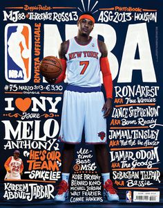 Rivista NBA / Covers 2012 13 on Behance #typography #magazine #nba