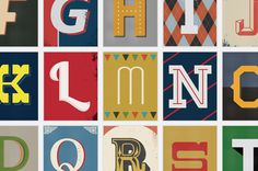 Vintage Type Prints on Kickstarter by Red Headed Mess #type