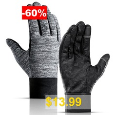Men's #Outdoor #Waterproof # #Touch #Screen #Gloves #Windproof #Cycling #Full #Finger #Non-slip #Sports #Glove #- #GRAY