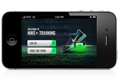 Nike+ Training #nike #mobile #branding