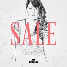 Koning's Sale #sale #illustration #drawing #typography
