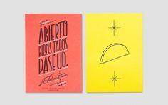 Anagrama | La Fábrica Del Taco #flyer #identity #typography