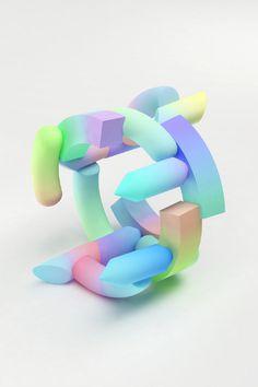 MAIKO GUBLER PITCH PRESENT #gradient #form #3d #flouro