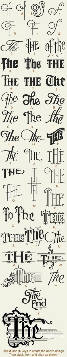 . #lettering #of #the #vintage #type
