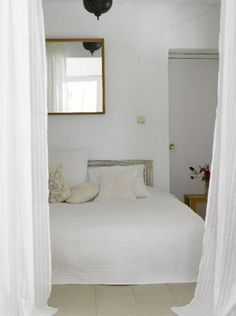 a converted farmhouse in grenada, spain | the style files #interior #design #white #bedroom