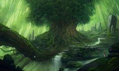 Fantasy Forest Big Tree Hd Backgrounds Free – WallpapersBae