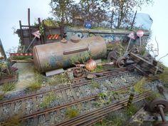Abandoned Rail..... #miniature #diorama