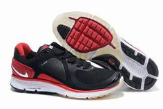 Mens Nike LunarEclipse BlackVarsity Red-Silver Shoes #fashion
