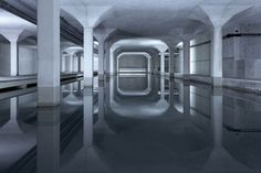 Pessoa :: Photographs by Luca Zanier #interior #modern #underground #space #photography #architecture #reflection #columns
