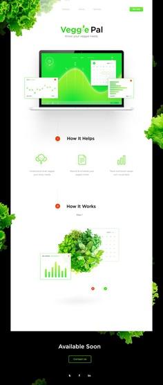 Veggie Pal Landing Page on Behance