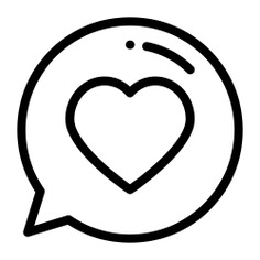 See more icon inspiration related to heart, feedback, love, like, chat, ui, communications, messages, speech bubble, message, social media and communication on Flaticon.