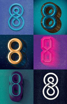 8 Final Poster #numbers #type