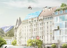 #city #drone #cgi #visualisation #3d #architecture #switzerland #detail #mobilty #emobility #future