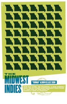 Garrett DeRossett | Work #derossett #gig #design #missouri #garrett #show #poster #midwest #indies #typography
