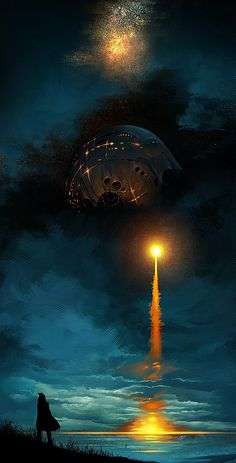by SeanSoong #futuristic #fi #sci #space #launch #concept #rocket #art