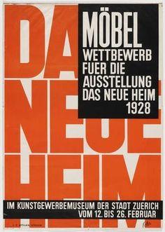 MoMA | The Collection | Ernst Keller. Möbel Wettbewerb fuer die Ausstellung #german #poster #typography