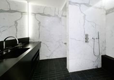 Unique Bathroom Furniture and marble tiling