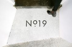 patron saint of sass – no.19 #type #tiles #greyscale #doorstep #simple