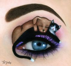 Creative Art With Use Eyes As A Canvas by Tal Peleg #art #design #painting