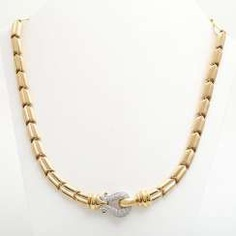 WEMPE Collier, in the middle part with 43 brilliant-cut diamonds,