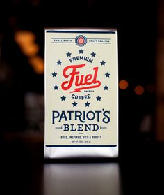 Premium Fuel Coffee, Patriot's Blend #packaging