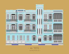 tlv buildings by avner gicelter #tel #aviv #illustration #buildings