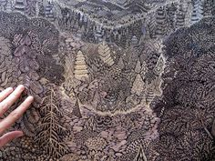 Overlook: A New Woodcut Print from Tugboat Printshop wood prints wood posters and prints illustration forests #woodcut