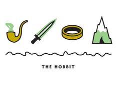 Dribbble - The Hobbit by Kyle Tezak #hobbit #icons