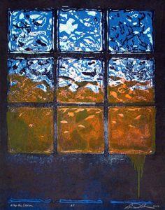 """After the Storm"" by Daniel Adams #woodcut #HUDesign #dadum #wood #print #window"