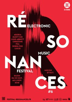 atelier toutvabien resonances 2012 poster by tout va bien #inspiration #red #graphic #black #poster #typography