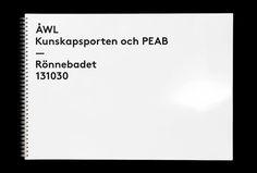 ÅWL Arkitekter by Henrik Nygren #stationary #brand design #branding #presentation #book