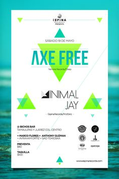 Axe Free Flyer #flyer #design #free #turquoise #poster #axe #blue #beach #green