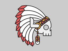 Chief #logo #dribbble #american #native