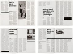 dutch graphic design, tubelight, art review, gridness #grid #layout #editorial