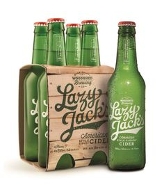 Lazy Jack's American-style Cider — The Dieline #packaging #script #cider