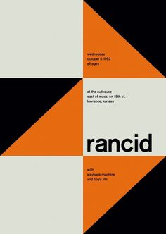 rancid at the outhouse, 1993 - swissted #print #design #graphic #posters