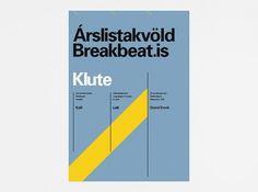 Work of Ragnar Freyr / Graphic Design / Reykjavik, Iceland #international #design #graphic #poster #freyr #ragnar #typography