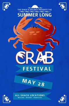 Shack_Crab_Festival_Poster #fest #crab