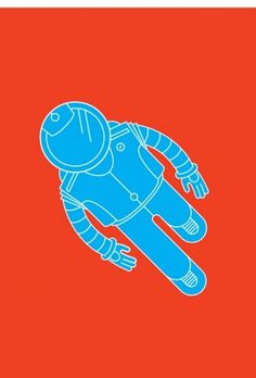 Built By Robots | Online portfolio of designer Danny Greaves. Currently working at Motionlab #red #astronaut #space #illustration #spaceman #blue