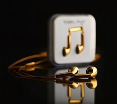Happy Plugs Gold Earbuds #gadget
