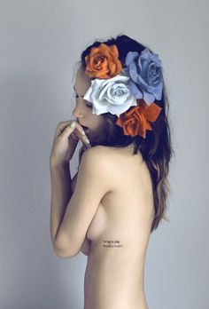 flores en mi cabeza #hair #photo #girl #flowers