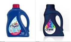 Three Cheers for the Laundry Detergent - Brand New #packaging #cheer #branding #redesign