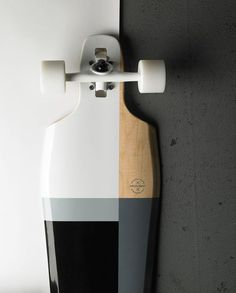 Grey, black & white skateboard... <3 #skateboard #white #black #grey