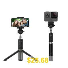 Portable #Bluetooth #Remote #Control #Tripod #Monopod #Handheld #Selfie #Stick #- #BLACK