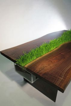 "CJWHO â""¢ (Planter Table by Emily Wettstein [artists on...) #creative #design #furniture #photography #art #table #awesome #green"