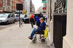 https://www.facebook.com/DavidWalbyPhotography #old #wallb #london #man #wheelchair